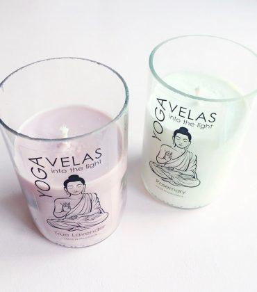 Yoga Velas – handgemachte Kerzen aus Bio-Sojawachs in recycelten Weinflaschen