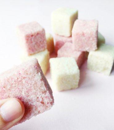 DIY Sugar Scrub Cubes mit Zitronenduft