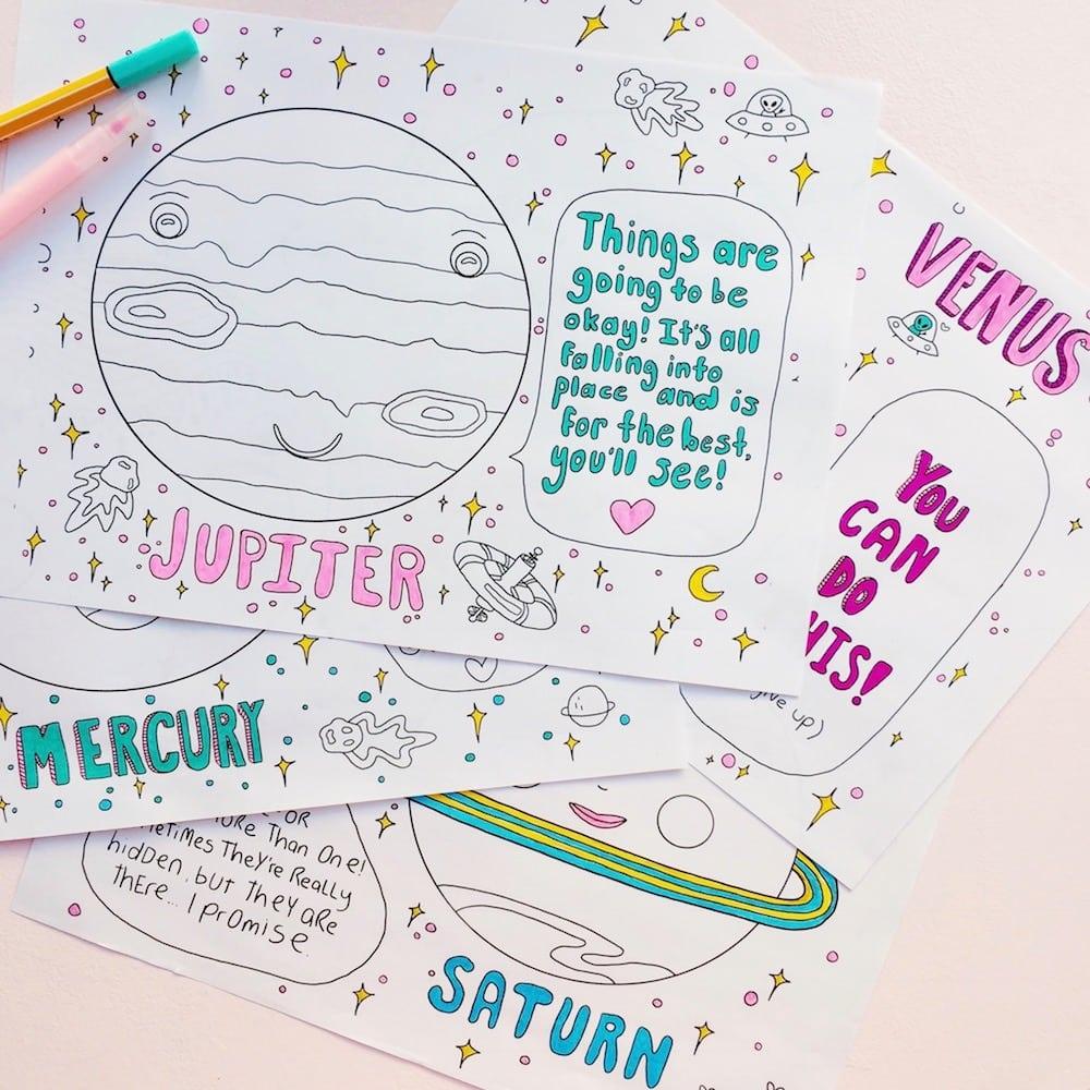 Positive Planets Malbuch Erwachsene