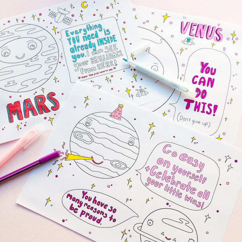 Positive Planets Malbuch für Erwachsene