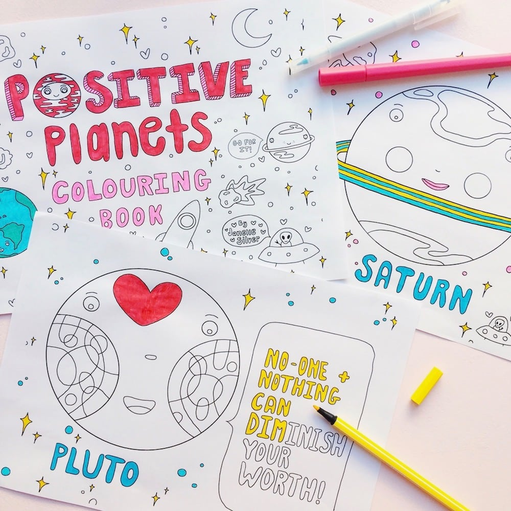 Positive Planets Malbuch