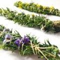 DIY Smudge Sticks Frühling Räucherbündel selber machen
