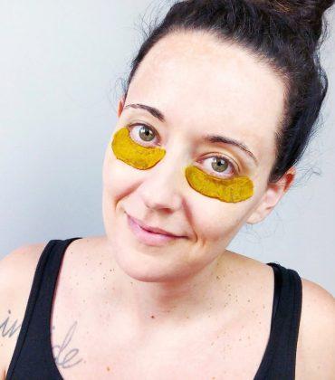 DIY Kurkuma Kaffee Augenpads gegen Augenringe und Schwellungen
