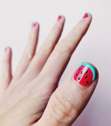 DIY Nageldesign Wassermelone