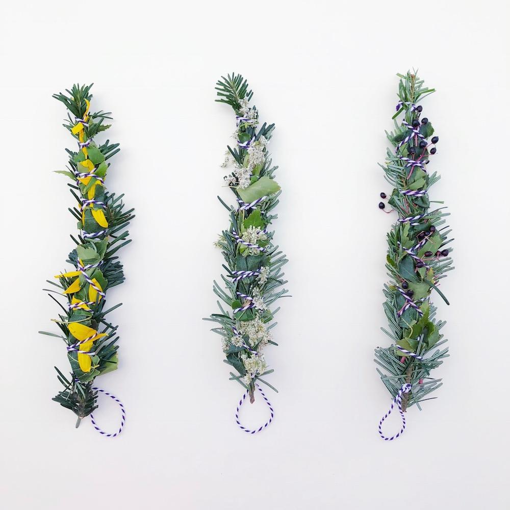 DIY Smudge Sticks Herbst Räucherbündel selber machen