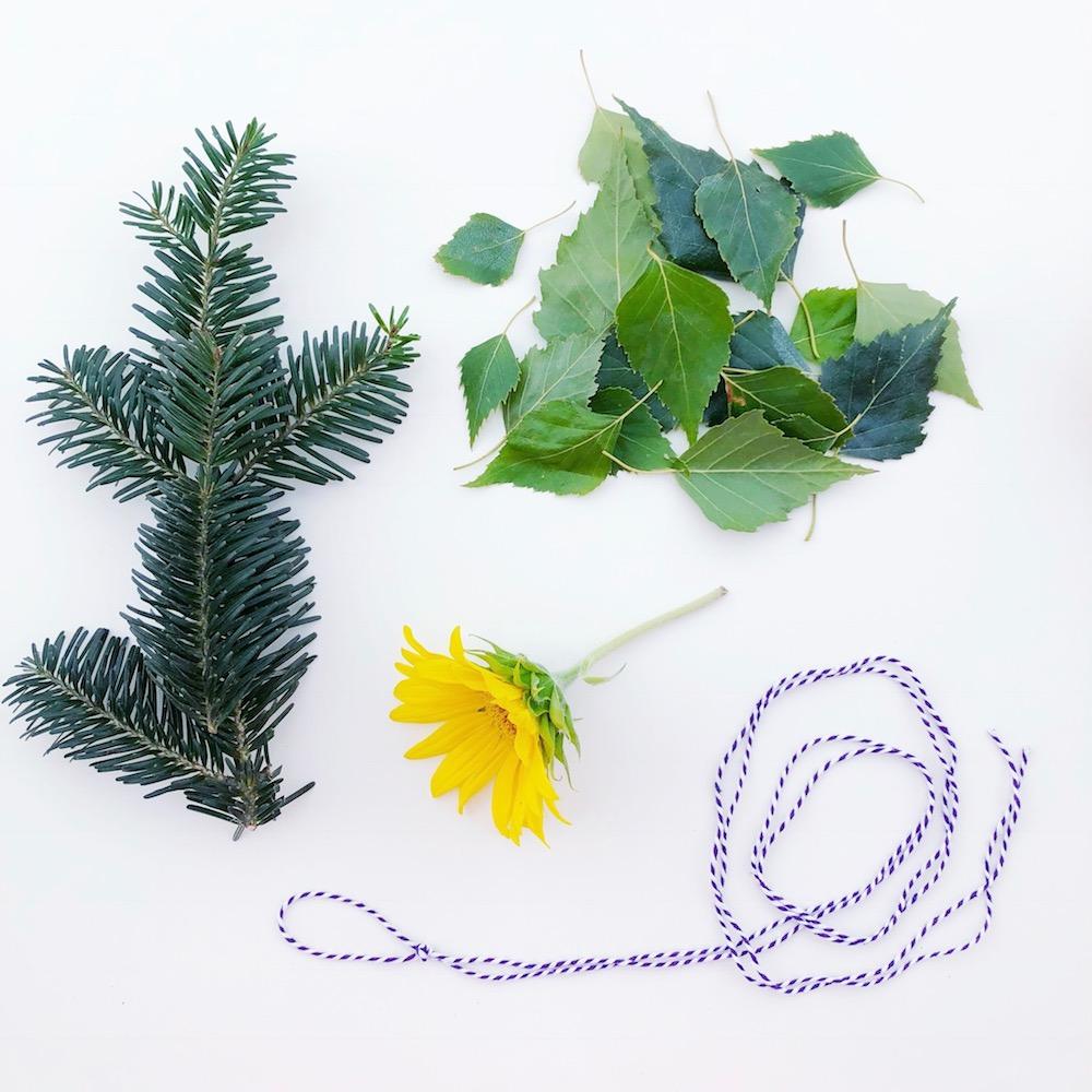 Räucherbündel selber machen mit Sonnenblume