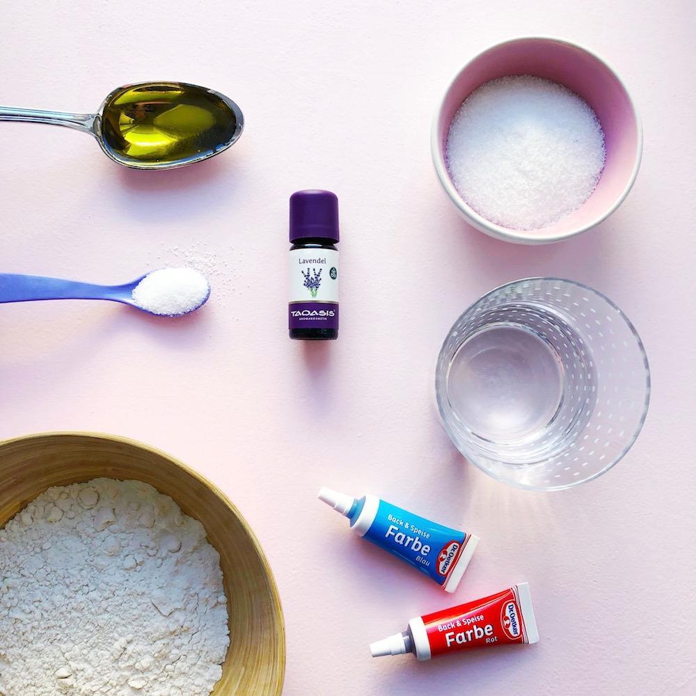 Lavendel Knete selber machen Rezept