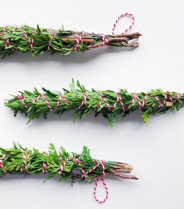 DIY Smudge Sticks im Winter – Räucherbündel selber machen