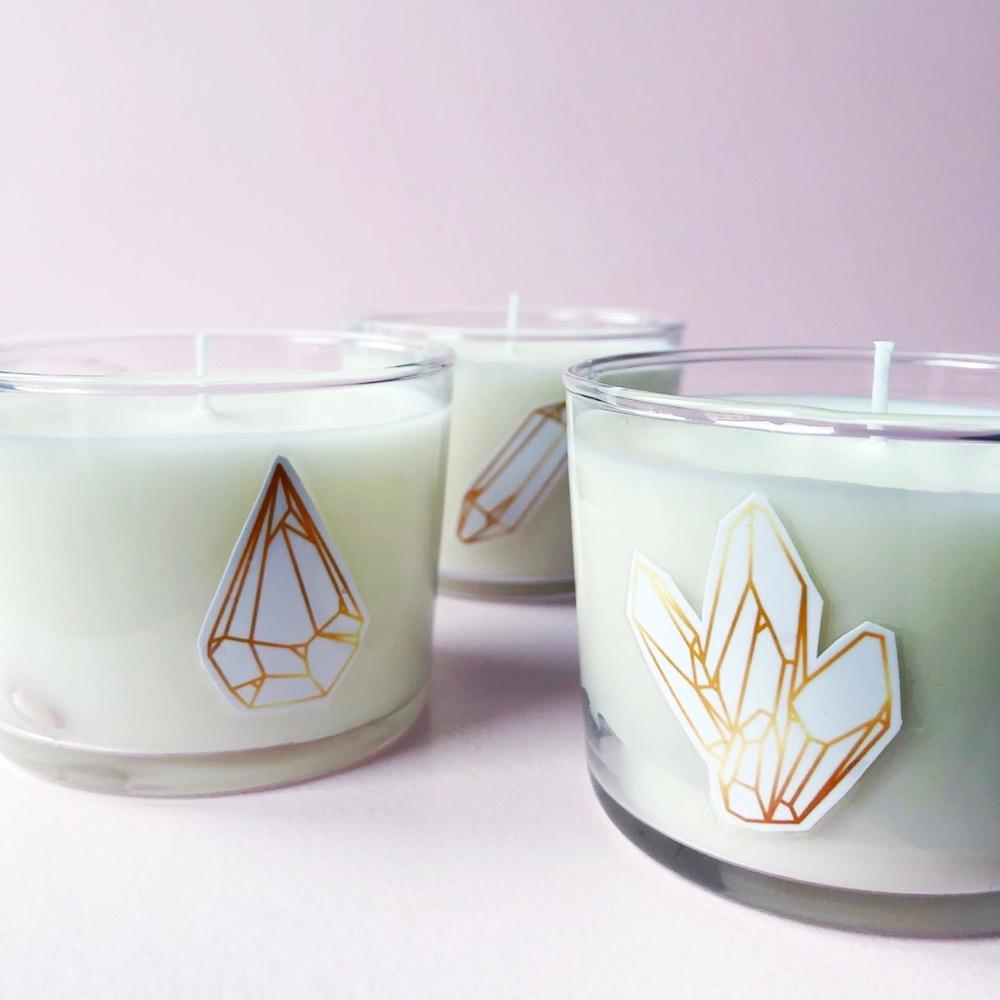 Edelstein Kerze selber machen