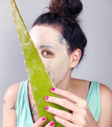 Aloe Vera Sheet Mask selber machen
