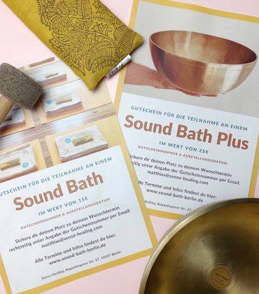 Das perfekte Wellnessgeschenk: Sound Bath Gutschein & Sound Bath Plus Gutschein