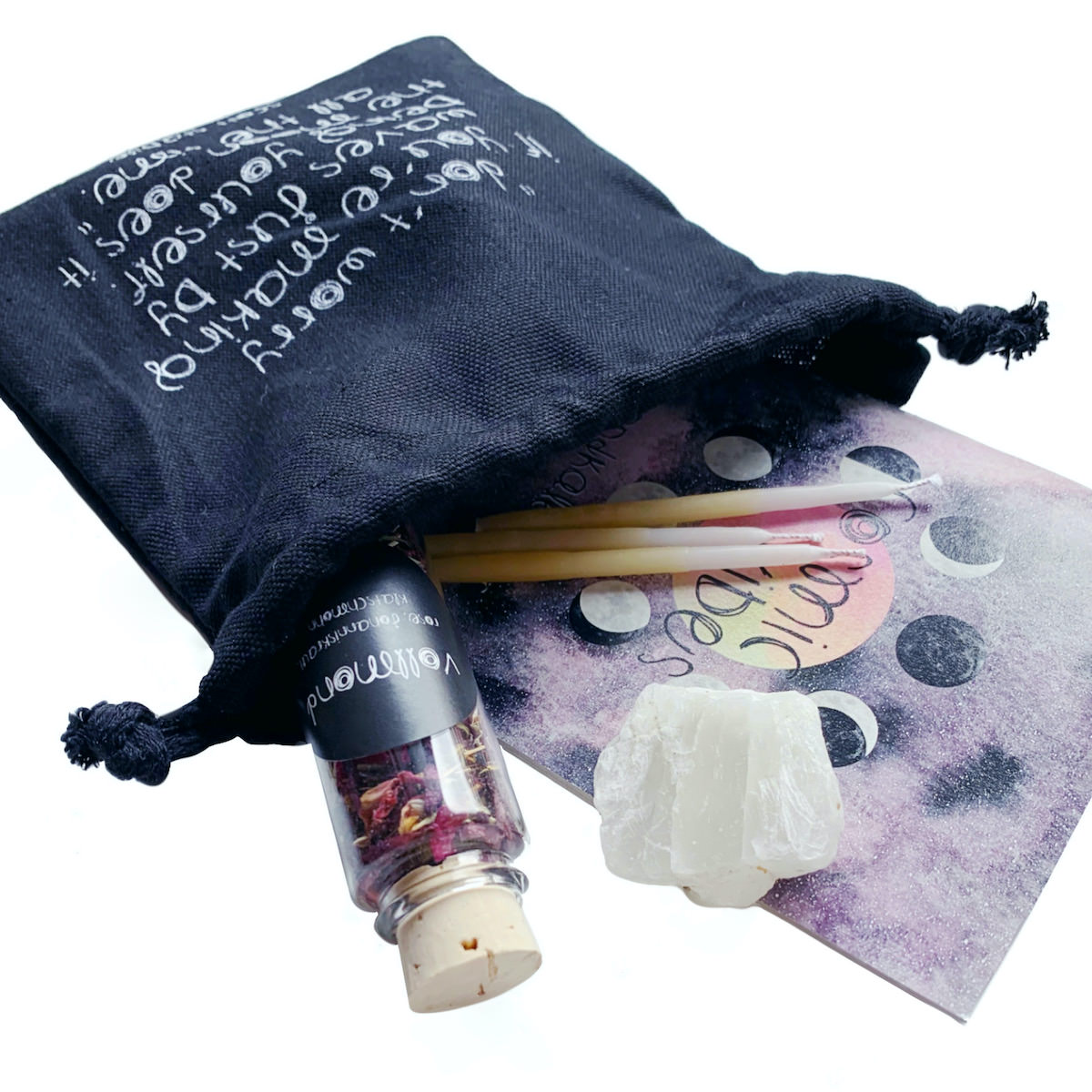 Cosmic Vibes Vollmond Ritual Kit mit Mondkalender