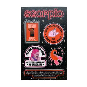 Astrologie Sticker Sternzeichen Skorpion
