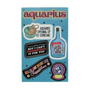 Astrologie Sticker Sternzeichen Wassermann
