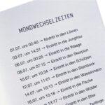 Mondkalender Booklet 2022